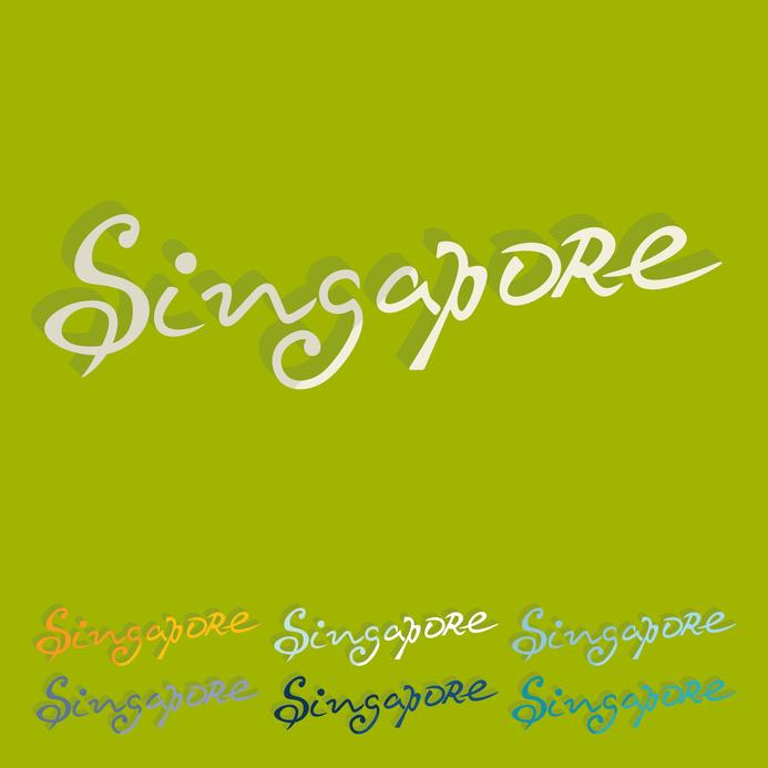 Flat design. Singapore